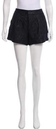 Helmut Lang Metallic-Accented Mini Shorts