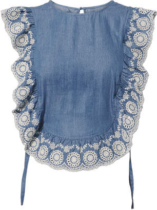 Nightcap Clothing Chambray Apron Top
