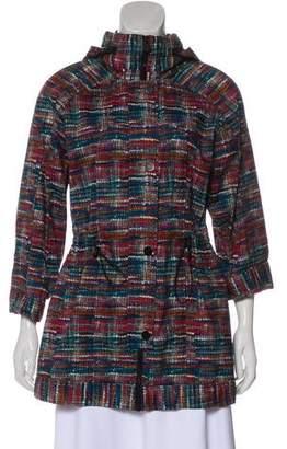 Chanel Printed Hooded Jacket
