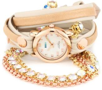 La Mer Women's LMMULTI5002RAIN Rainbow St. Tropez Chandelier Crystal Wrap Watch