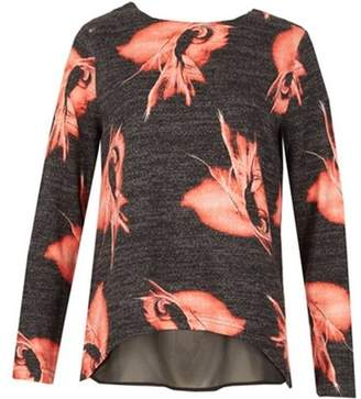 Dorothy Perkins Womens *Tenki Grey Floral Jumper