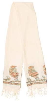 Etro Wool & Cashmere Floral Scarf