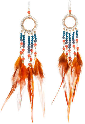 Nakamol Feather Thread-Through Hoop Earrings jlRJBn
