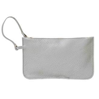 N'Damus London - Eloise Grey Leather Clutch Bag