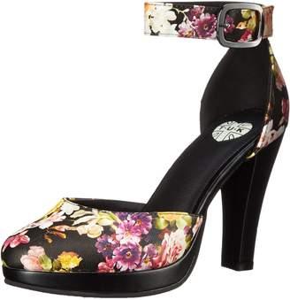 T.U.K. Women's Floral Ankle Strap Starlet Heel Platform Pump