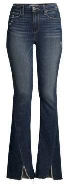 Paige Lou Lou High-Rise Flare Split Hem Jeans