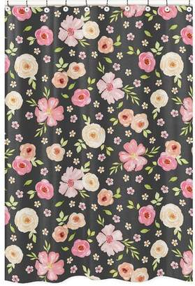 JoJo Designs Sweet Watercolor Floral Shower Curtain