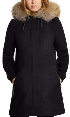 Dawn Levy Tiffany Fur Trim Coat