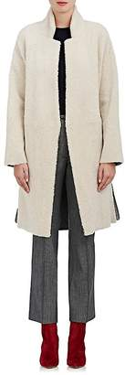 Boon The Shop Women's Suede-Striped Shearling Coat