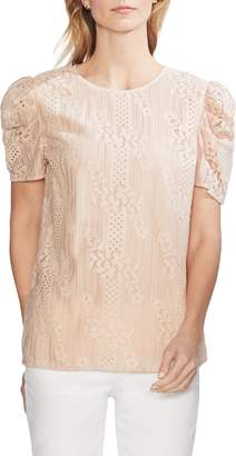 Vince Camuto Puff Sleeve Lace Blouse