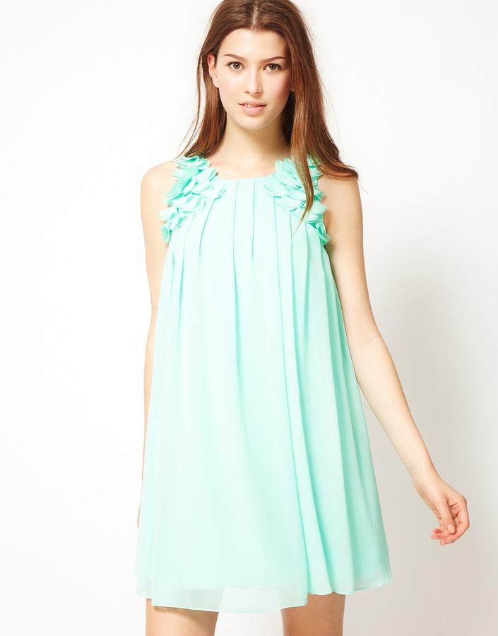 Rare Swing Dress With Petal Strap