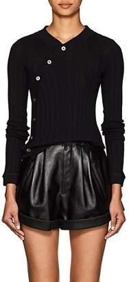 Alexander Wang Women's Asymmetric-Button Rib-Knit Cotton Sweater