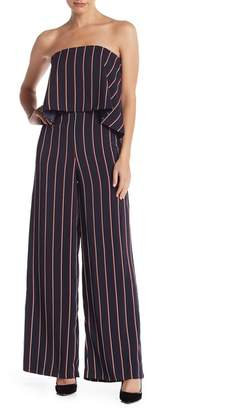 Do & Be Do + Be Strapless Striped Jumpsuit