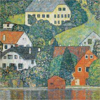 Gustav Eurographics House in Unterach Art Print Poster by Klimt