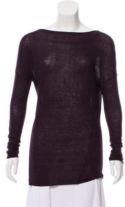 Vince Wool-Blend Long Sleeve Top