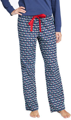 Vineyard Vines Santa Whale & Tree Lounge Pants