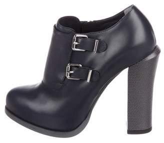 Fendi Leather Platform Booties w/ Tags