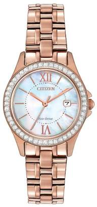 Citizen Women's Eco-Drive Exclusive Mother of Pearl Crystal Accented Watch, 21mm