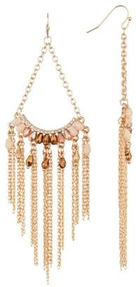 Black Diamond ACCESSORIES Chain Fringe Crystal Chandelier Earrings