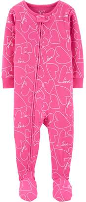 db8374d15 Carter's Baby Girl Heart Printed Footed Pajamas