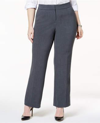 JM Collection Plus & Petite Plus Size Curvy-Fit Straight-Leg Pants