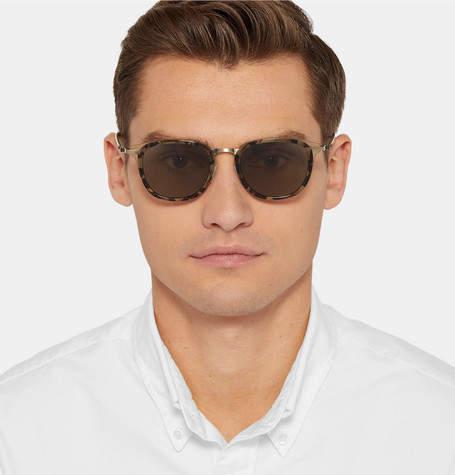 Barton Perreira Allied Metal Works Tortoiseshell Acetate and Gold-Tone Polarised Sunglasses