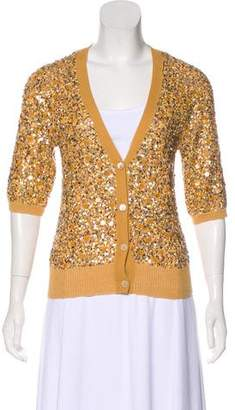 Dries Van Noten Sequin Knit Cardigan