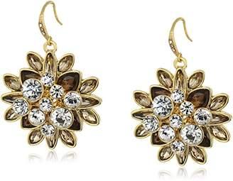 Carolee Metropolitan Club Cluster Pierced Drop Earrings