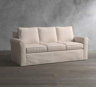 Pottery Barn Cameron Roll Arm Slipcovered Sleeper Sofa With Memory Foam Mattress