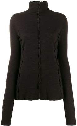 Jil Sander scallop hem polo neck