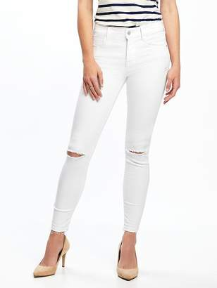 Old Navy Mid-Rise Built-In Sculpt Rockstar Released-Hem Ankle Jeans for Women