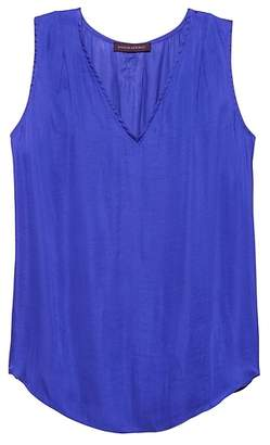 Banana Republic Soft Satin Pleated Drapey Tank