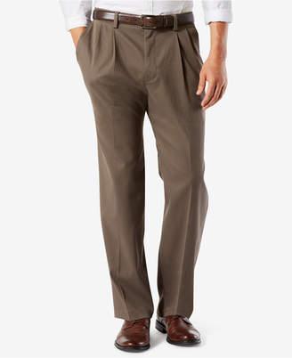 Dockers Big & Tall Easy Classic Pleated Fit Khaki Stretch Pants D4