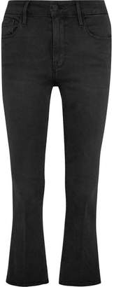 Frame Le Crop Mini Mid-rise Bootcut Jeans - Anthracite