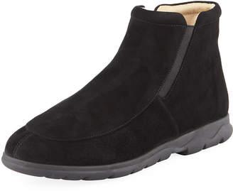 Neiman Marcus Leman Flat Comfort Booties