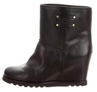 Marc by Marc Jacobs Leather Wedge Boots