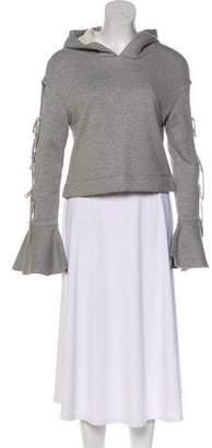Jonathan Simkhai Long Sleeve Hooded Sweatshirt