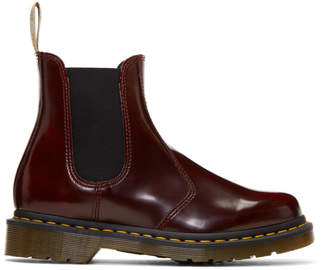 Dr. Martens Red Vegan 2976 Chelsea Boots