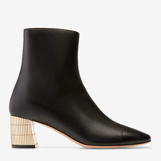 Bally Emme Black, Women's calf leather ankle boot with 55mm heel in black