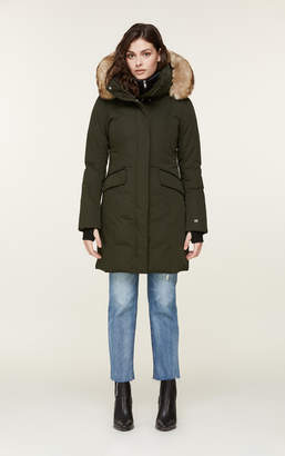 Soia & Kyo EMELE Thermolite coat with faux fur and puffy bib