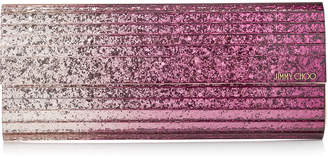 Jimmy Choo SWEETIE Champagne and Grape Degrade Glitter Acrylic Clutch Bag