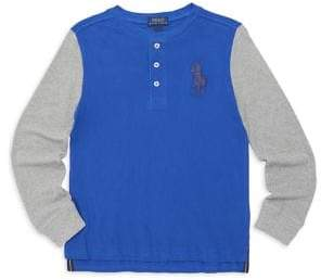 Ralph Lauren Little Boy's& Boy's Long-Sleeve Cotton Henley