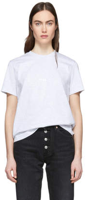 MSGM Grey Mini Logo T-Shirt