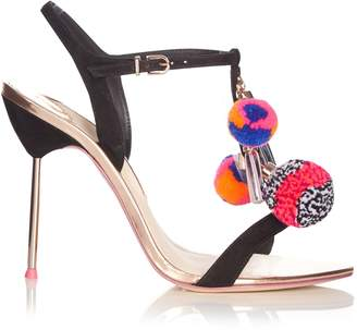 Sophia Webster Layla pompom embellished leather sandals