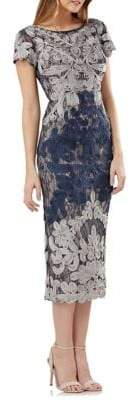 Boatneck Embroidered Dress