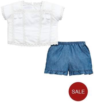 Very Girls White Tassel Blouse & Frill Short Outfit