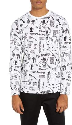 Wesc Makai Monsters Graphic Long Sleeve Pocket T-Shirt
