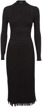 Cédric Charlier C?dric Charlier Rib-knit Fitted Midi Dress