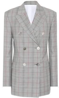 Calvin Klein Plaid double-breasted wool blazer