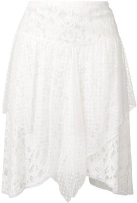 See by Chloe asymmetric lace skirt